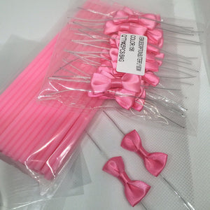 50pcs Colorful Acrylic swirl sticks for cake pop or lollipop candy