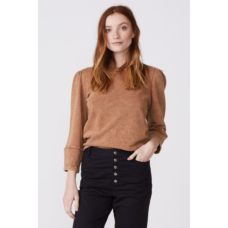 Mineral Wash Puff Sleeve Sweatershirt