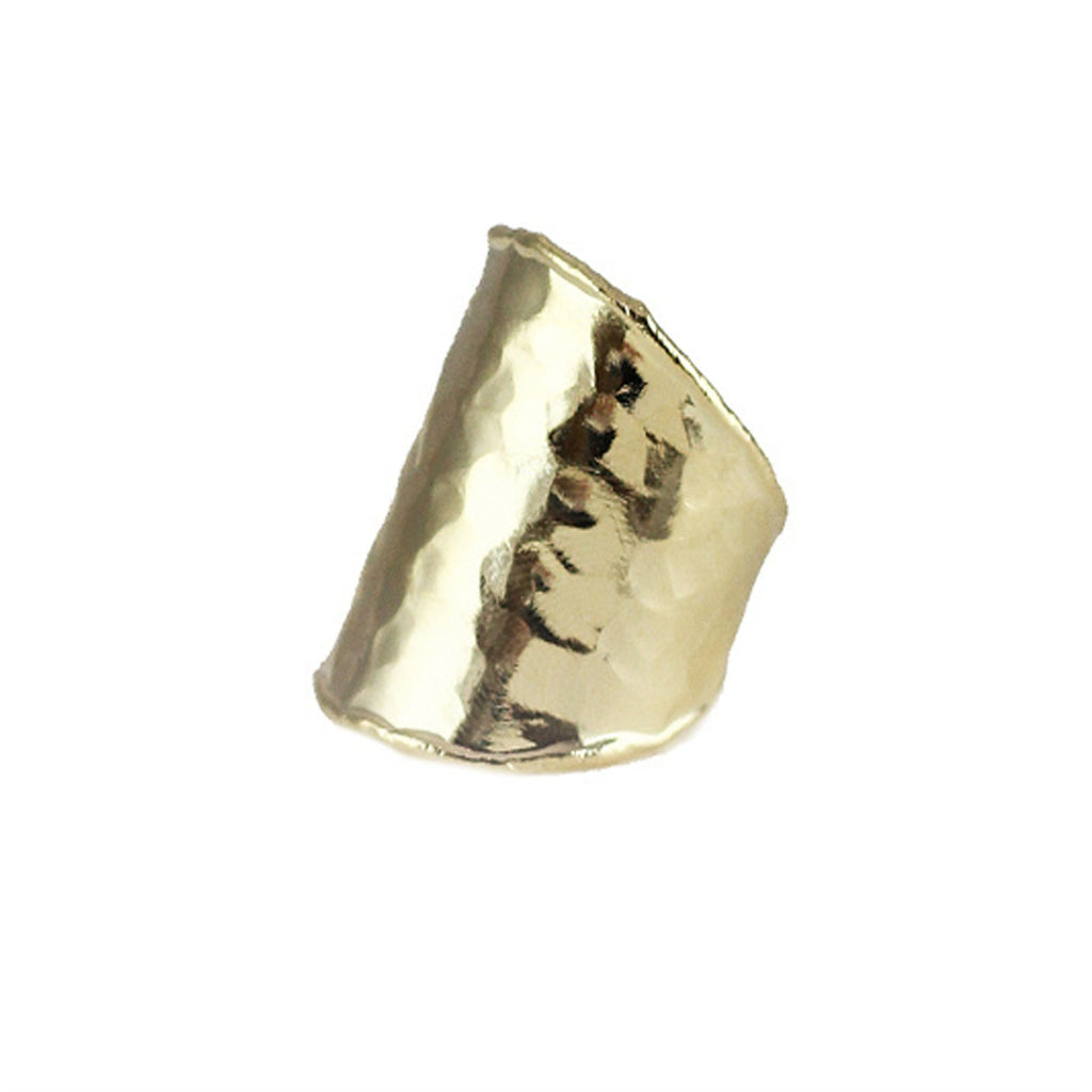 Viona Open Hammered Ring