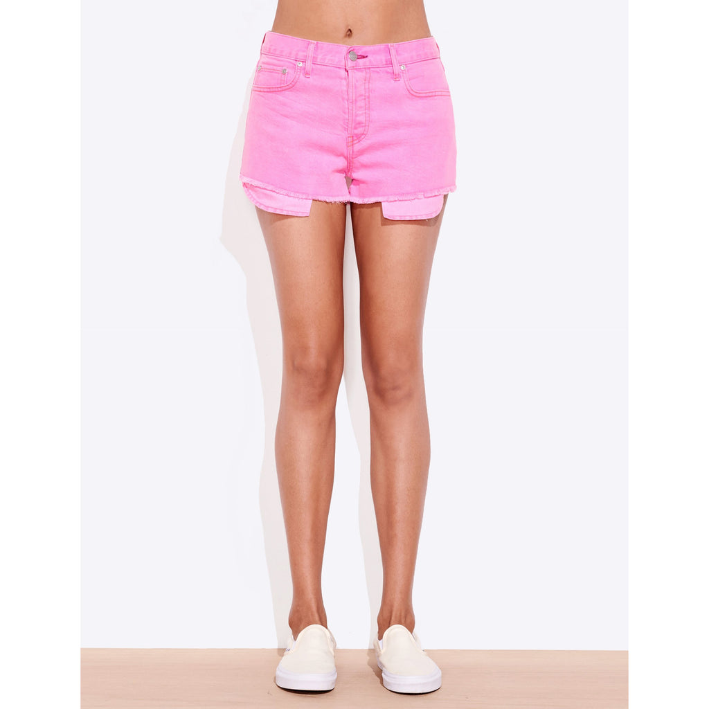 Exposed Pocket Cut Off Shorts
