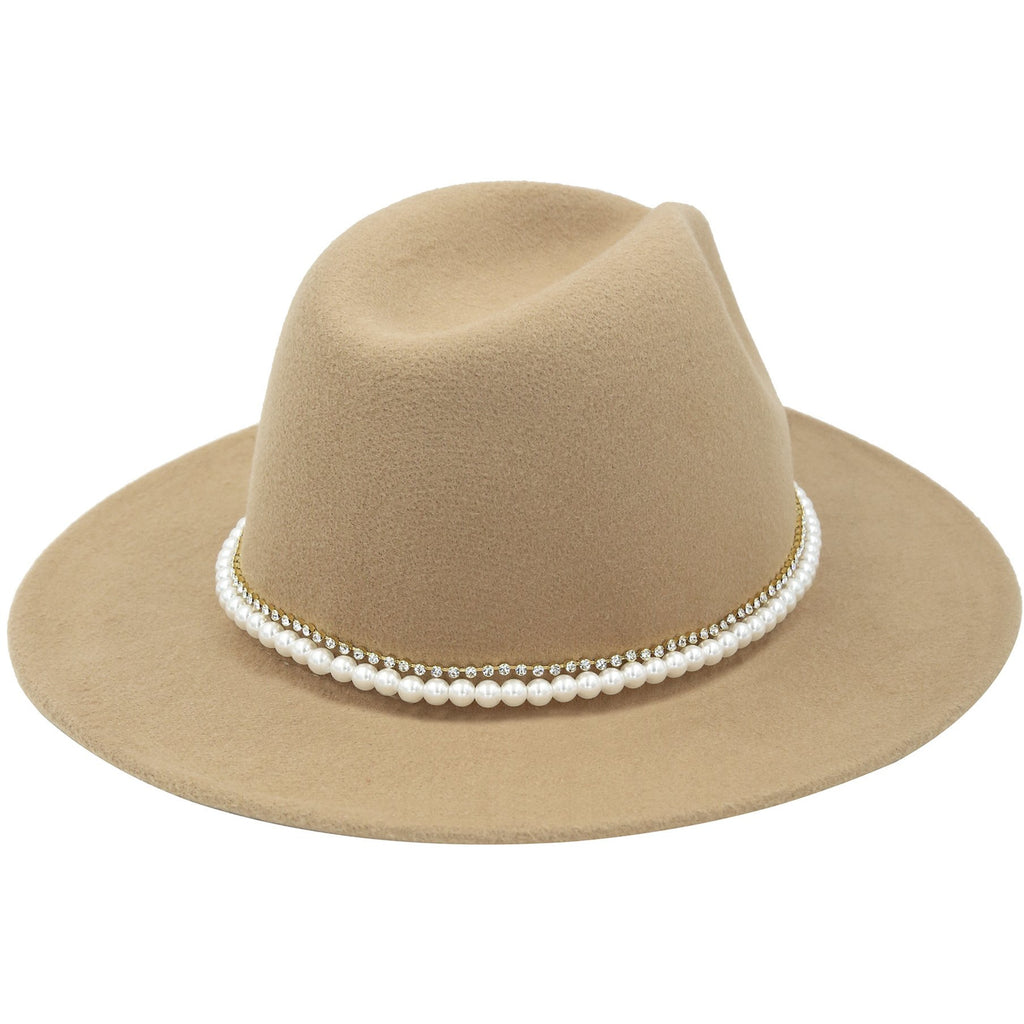 Pearl & Tan Hat