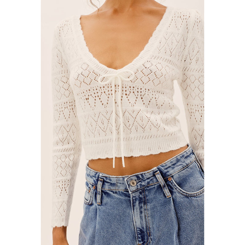 Blanca Crochet Sweater