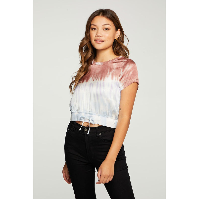 Stretch Silky Cropped Blouse