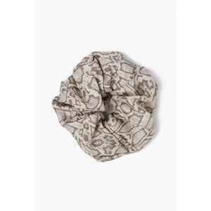Bark Snake Print Oversized Scrunchie