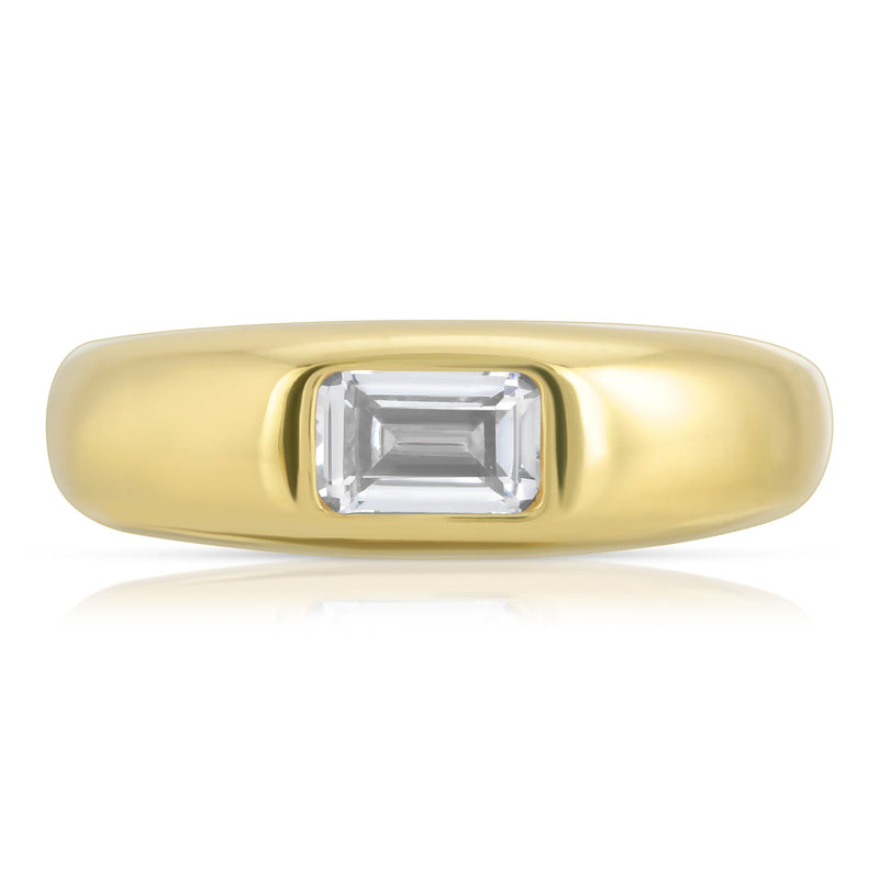 Baguette Dome Ring