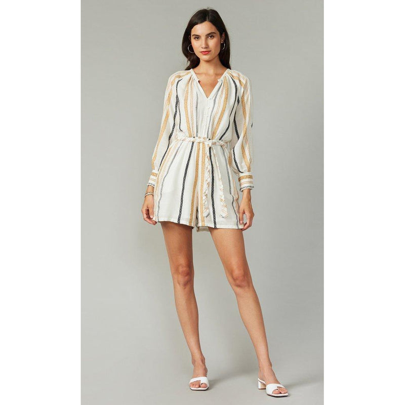 Sylvie Yarn Dyed Stripe Romper