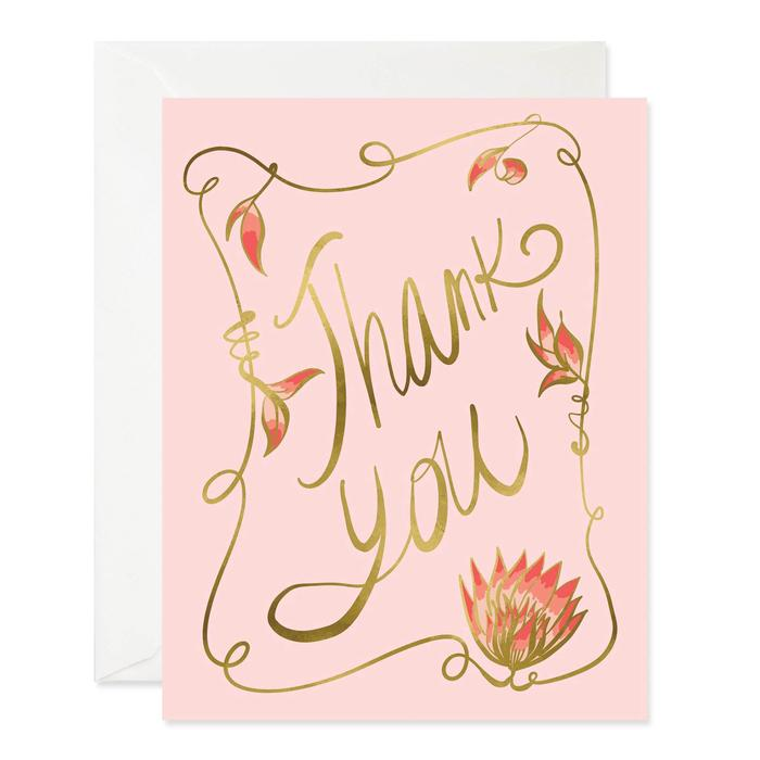 Nouveau Thank You Card