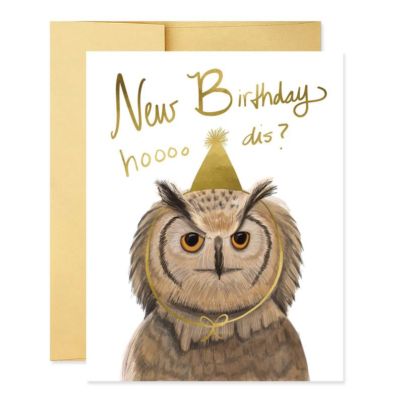 Hooo Dis Birthday Card