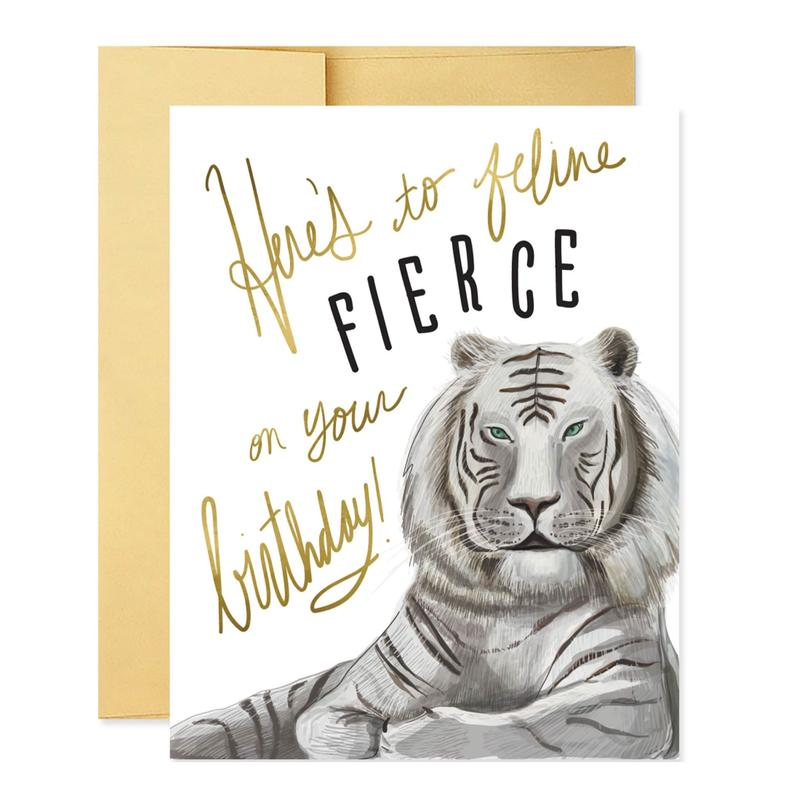Feline Fierce Birthday Card