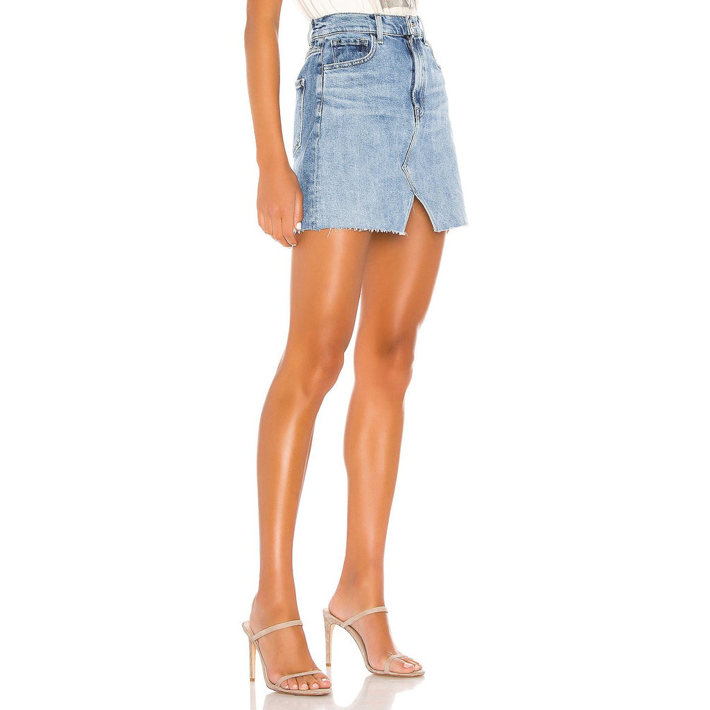 Jules High Rise Denim Mini Skirt