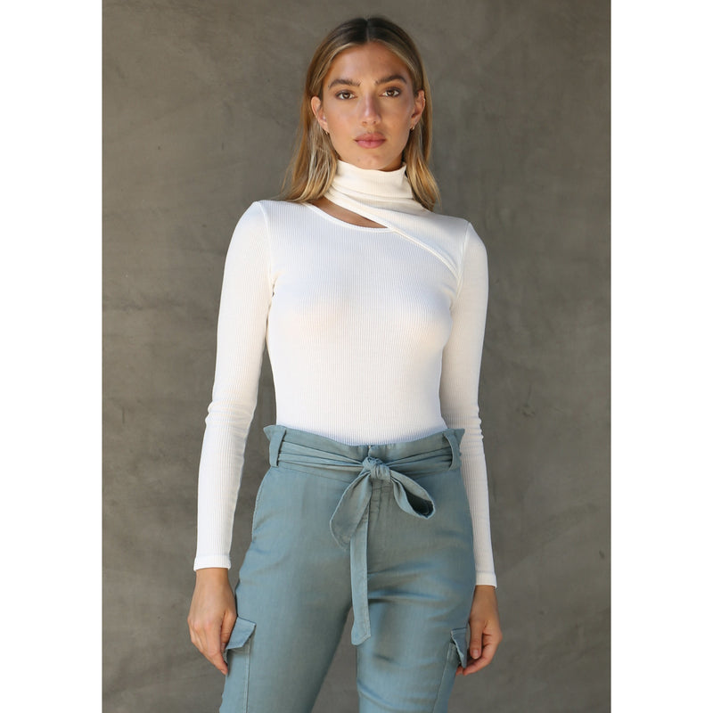 Bodysuit with Neck Slit