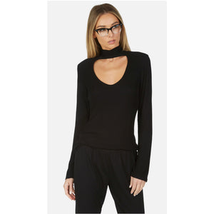 Napoleon Mock Neck Top