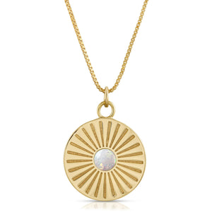 Sunburst Charm Necklace
