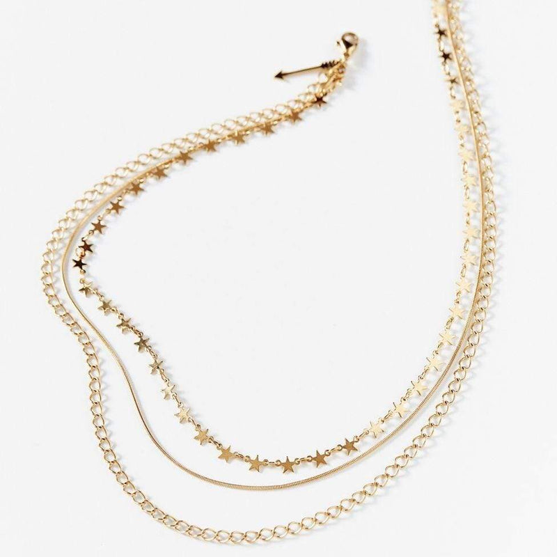 Mabel Star Multi Layer Chain Necklace