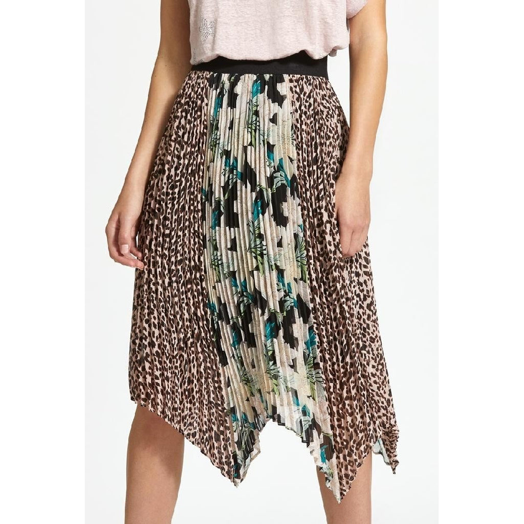 Ava Pleated Midi Skirt