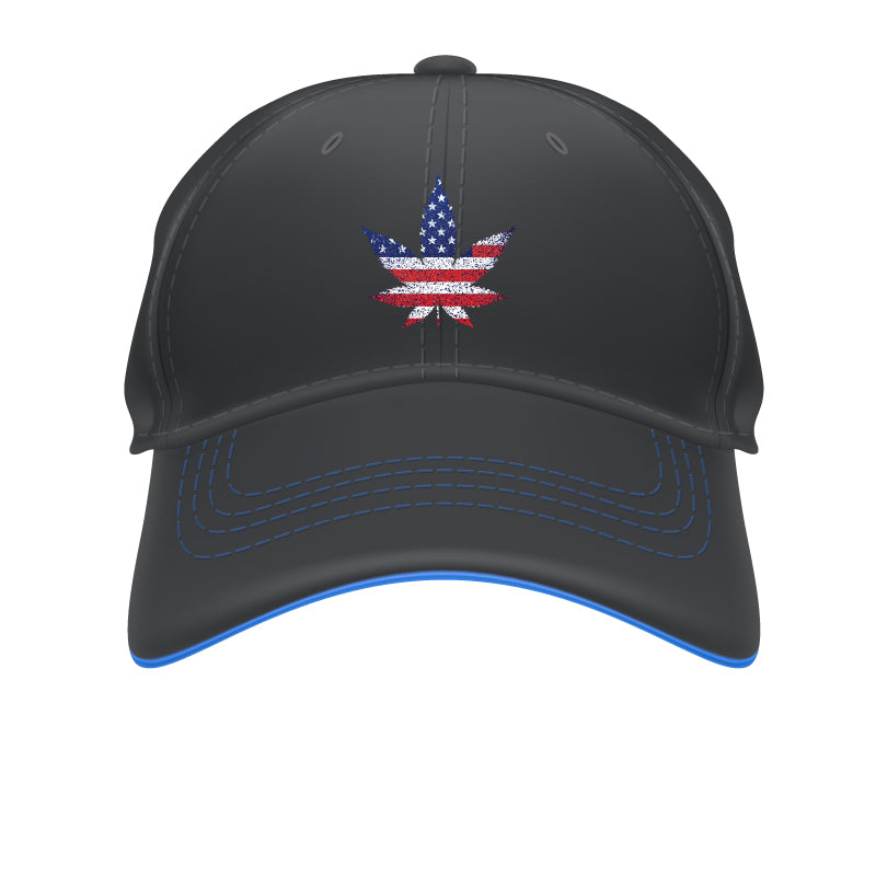 American Flag Leaf Hat