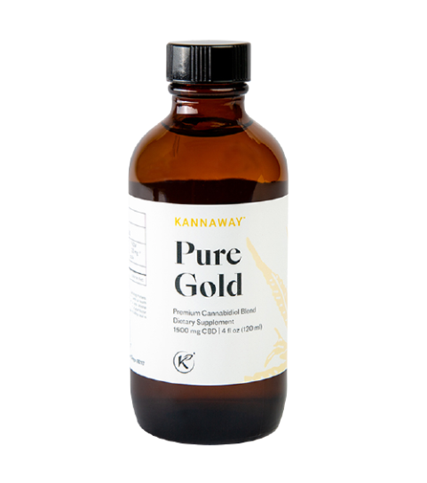 Pure Gold CBD Oil (1500mg CBD) - 50% More CBD Now!