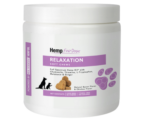 Hemp for Pets Relaxation Soft Chews for Dogs