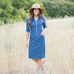 Walk To The Park Chambray Dress