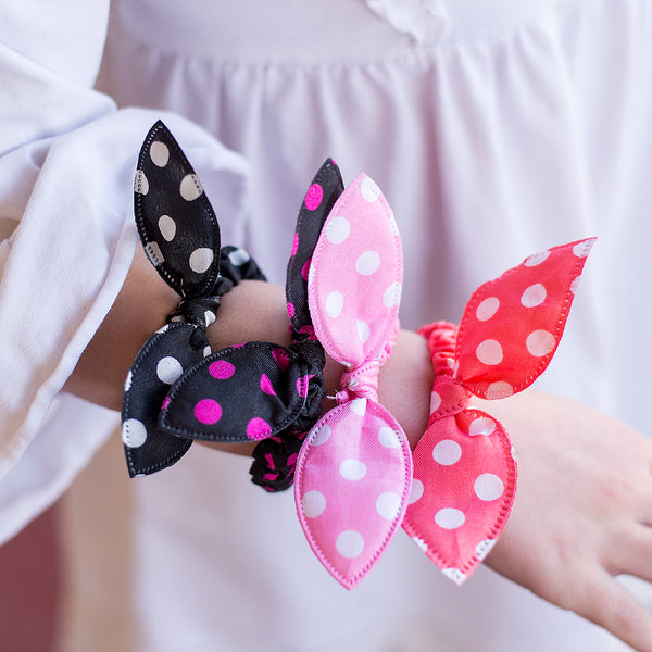 Dot Bow Scrunchies