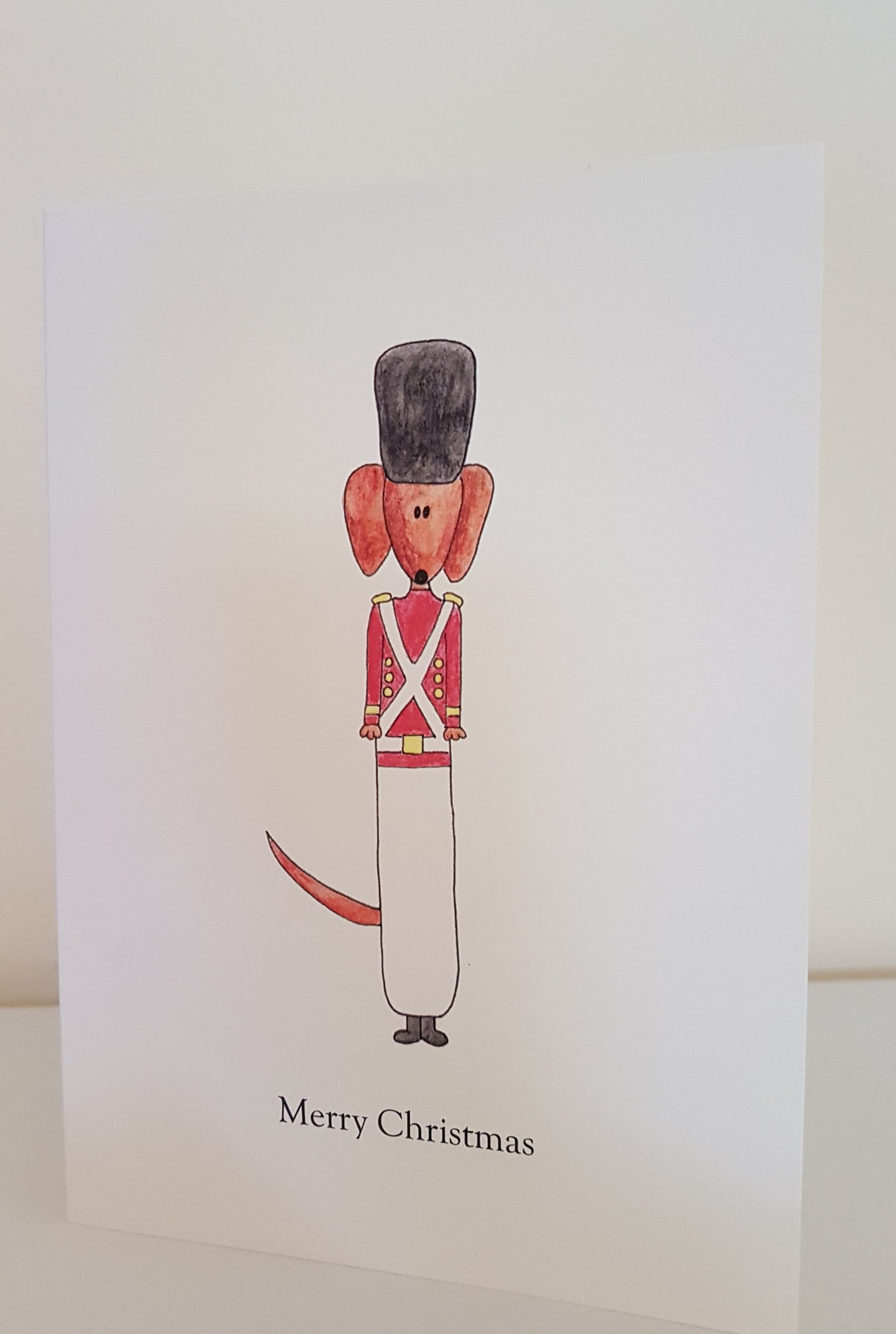Christmas Dachshund Toy Soldier - Greeting Card
