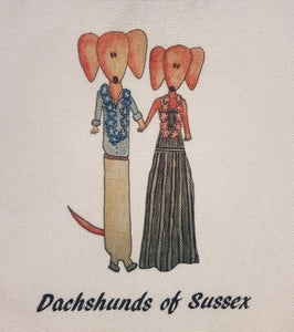Dachshunds of Sussex - Bondi - Royal Tour - Canvas Eco Tote