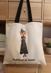 Dachshund of Sussex - Sydney - Royal Tour - Canvas Eco Tote