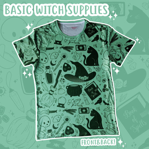 Basic Witch, Green T-Shirt