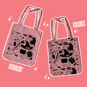 Basic Witch Supplies - Pink Totebag