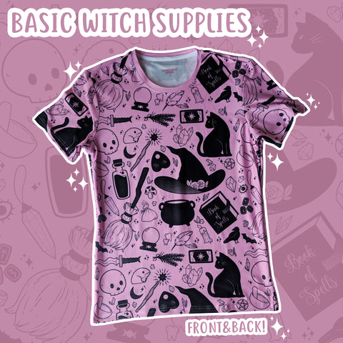 Basic Witch, Pink T-Shirt