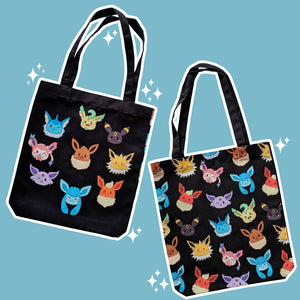 Hodgepodge Eeveelution, Black - Monster Pal Totebag
