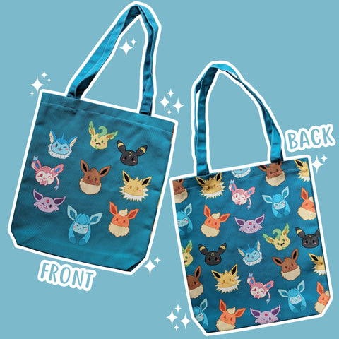 Hodgepodge Eeveelution, Blue/Teal - Monster Pal Totebag