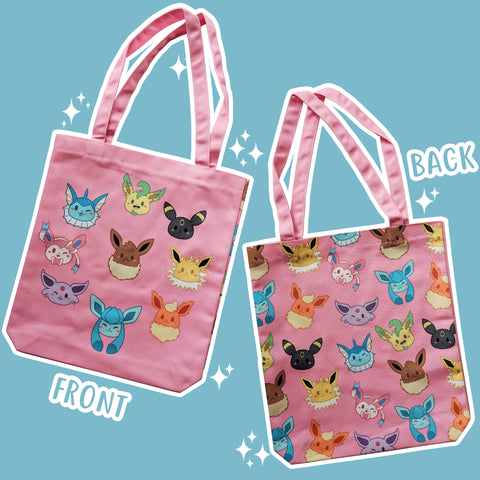 Hodgepodge Eeveelution, Pink - Monster Pal Totebag