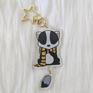 House of Badger, Dangle Tail Acrylic Charm