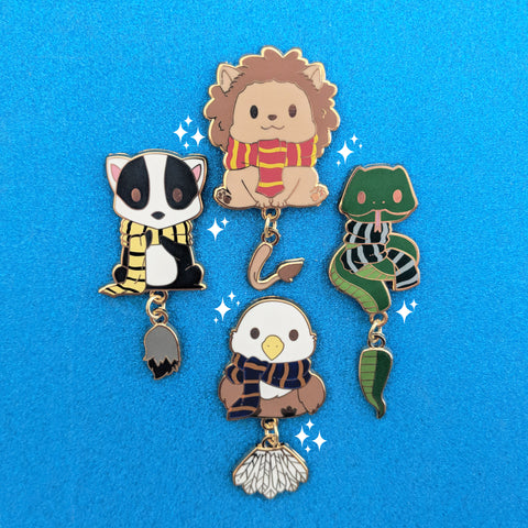 Magical House Animal Mascot Enamel Pin - Adorable Beasts & Where I Found Them Pin