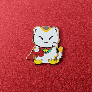 Manekineko - Good Luck Cat - Enamel Pin