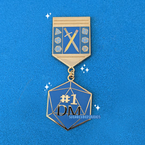 #1 DM - Dangle Enamel Pin