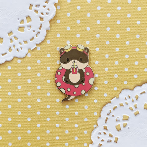 Oliver the Summer Time Otter - Enamel Pin