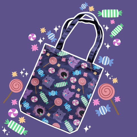 Spooky Sweet, Purple - Monster Pal Totebag