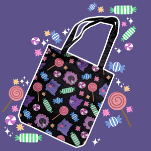 Spooky Sweet, Black - Monster Pal Totebag