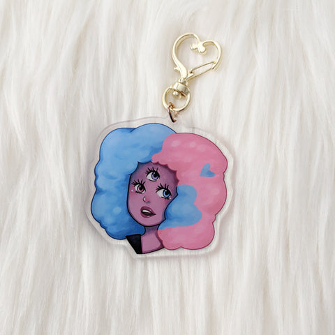 Cotton Candy Girl - Acrylic Charm