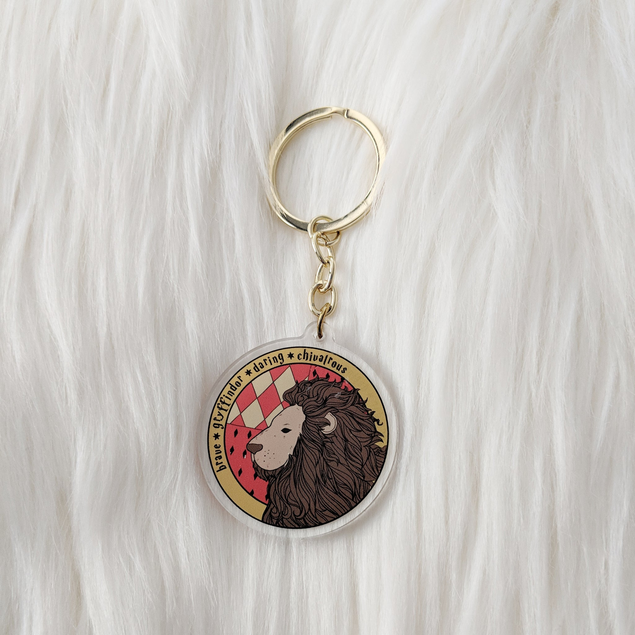 House of Lion, Circle Acrylic Charm