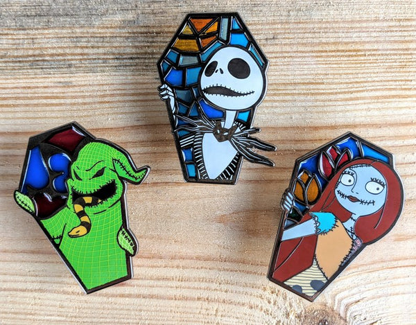 Nightmare Before Christmas Inspired Stained Glass Pin - Limited Edition 75