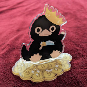 Niffler on a Stack of Galleons - Acrylic Standee