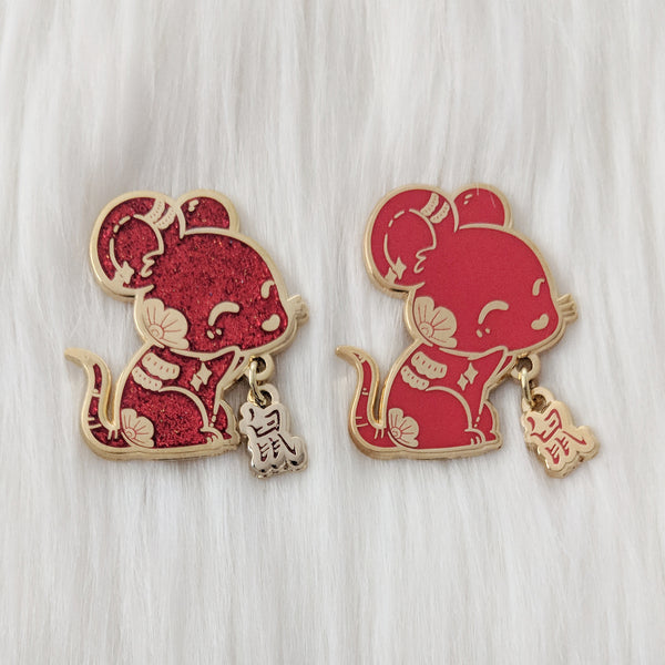 "Rat ""鼠"" - Zodiac Pin Series"