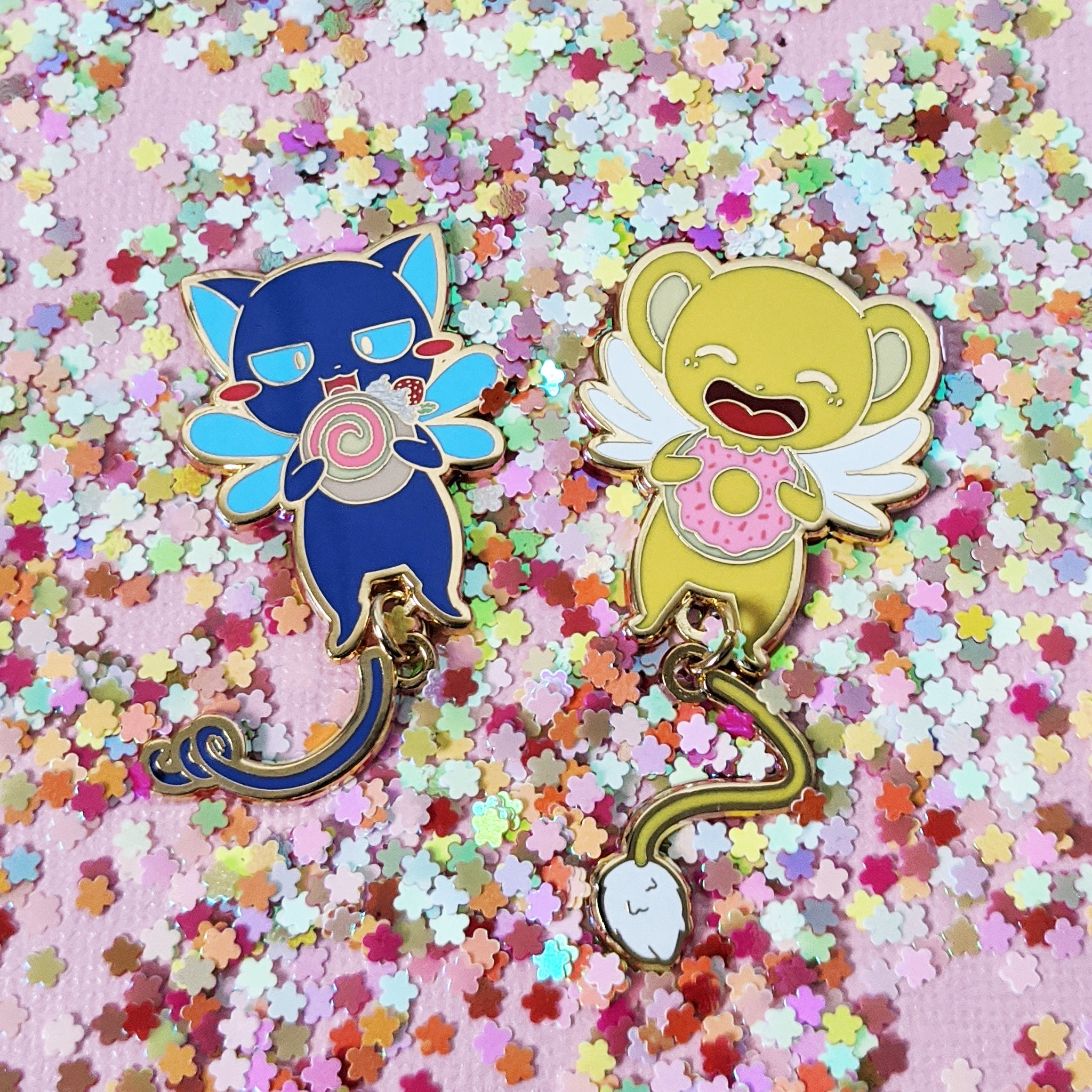 Kero and Suppi Dangle Tail Delight - Card Captor - Enamel Pins