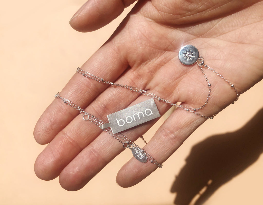 Boma Motherhood Pendant Necklace, in 925 silver, with certified 925 tag