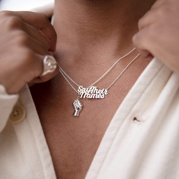 Boma Jewelry THIS MATTERS BLM POWER PENDANT BY CURA X BOMA