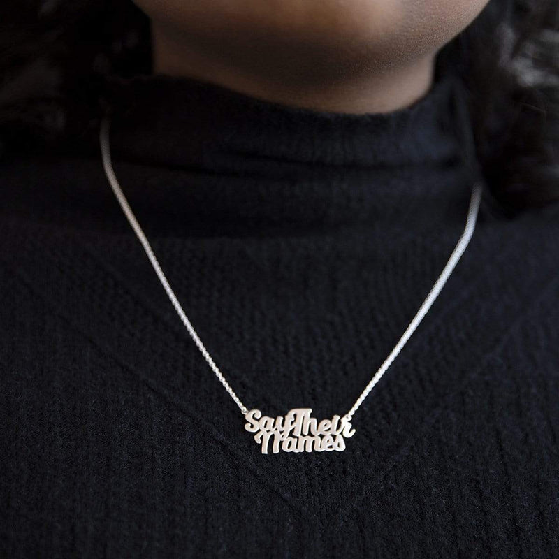 Boma Jewelry THIS MATTERS SAY THEIR NAMES PENDANT BOMA X CURA