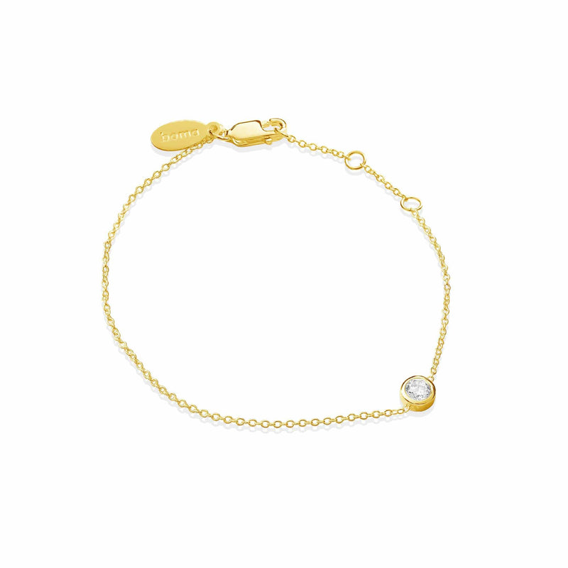Boma New Bracelets 14K Gold Vermeil Belle Bracelet with Stone